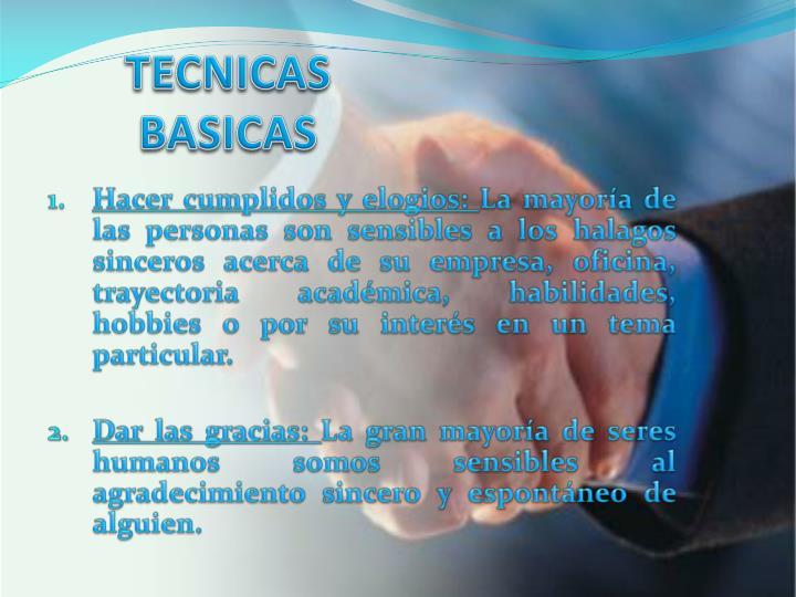 TECNICAS BASICAS