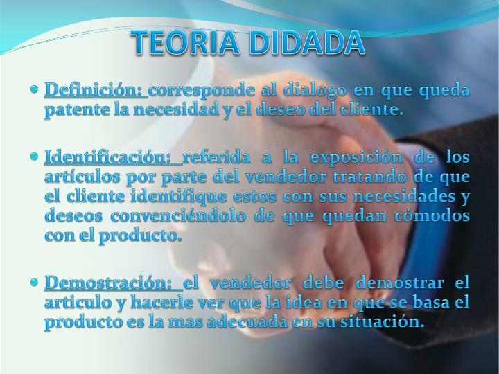 TEORIA DIDADA