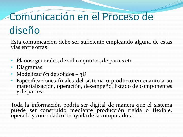 Comunicación en el Proceso de