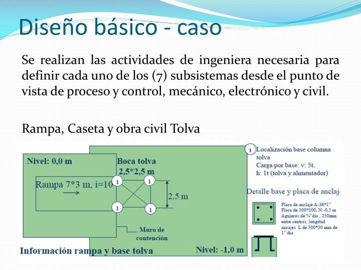 Diseño básico - caso