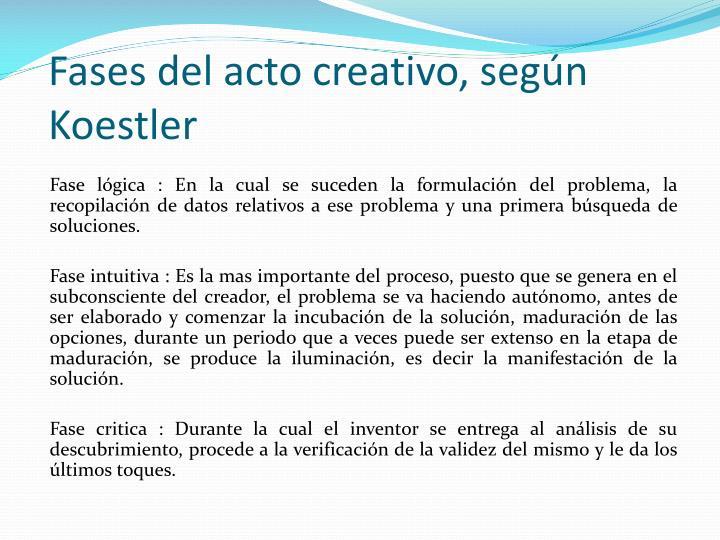 Fases del acto creativo, según Koestler