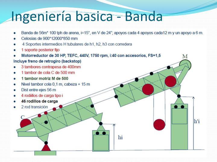 Ingeniería basica - Banda