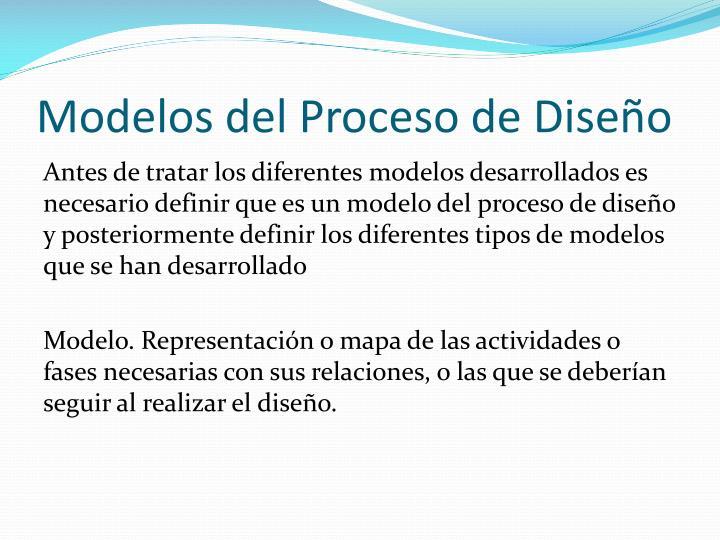 Modelos del Proceso de Diseño