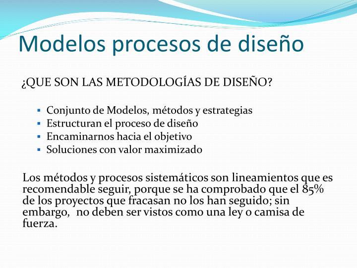 Modelos procesos de diseño