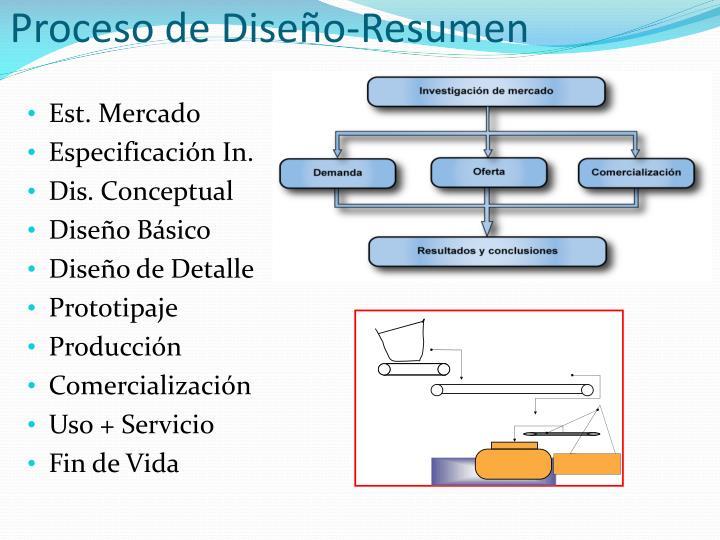 Proceso de Diseño-Resumen