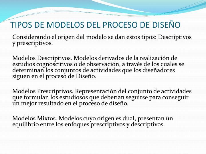 TIPOS DE MODELOS DEL PROCESO DE