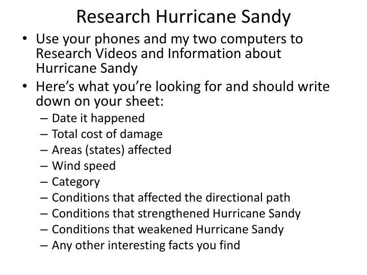 Research Hurricane Sandy