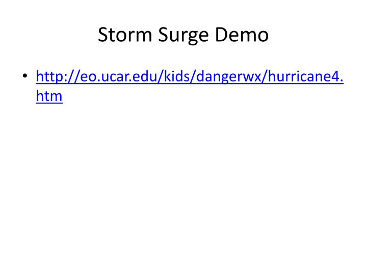 Storm Surge Demo