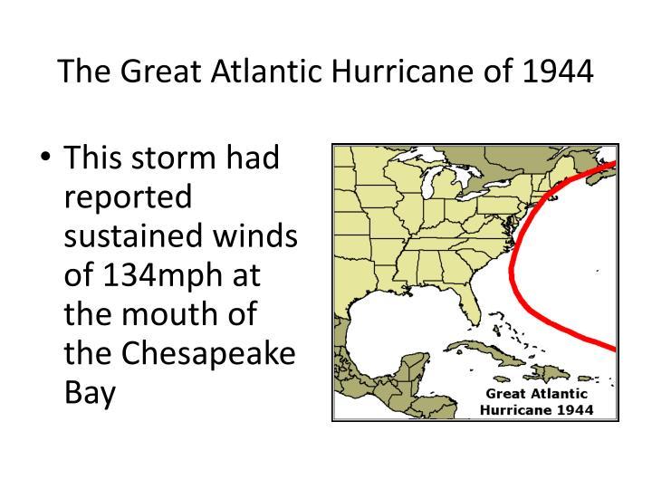 The Great Atlantic Hurricane of 1944