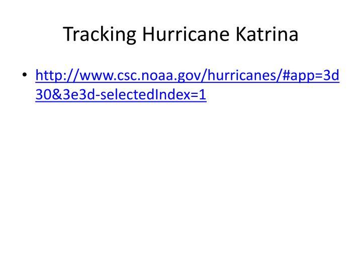 Tracking Hurricane Katrina