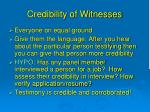 credibility of witnesses