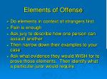 elements of offense