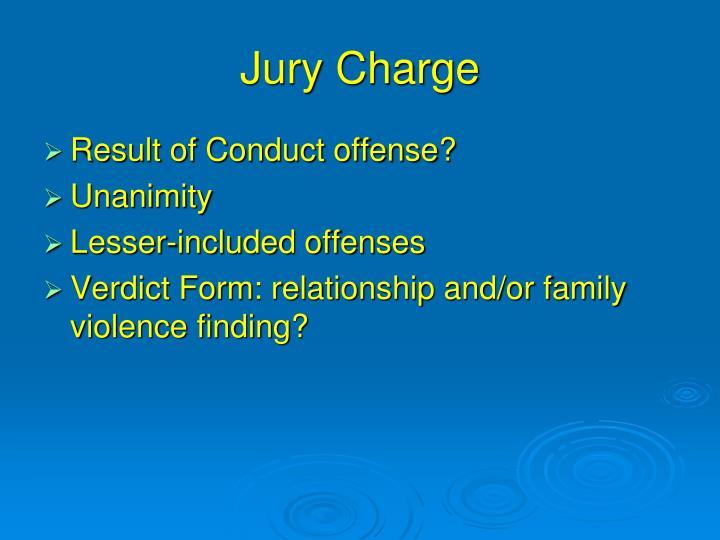 Jury Charge
