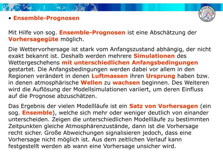 Ensemble-Prognosen