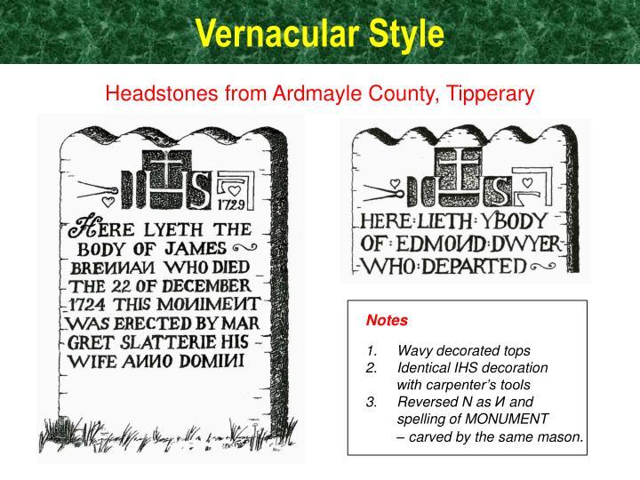 Vernacular Style