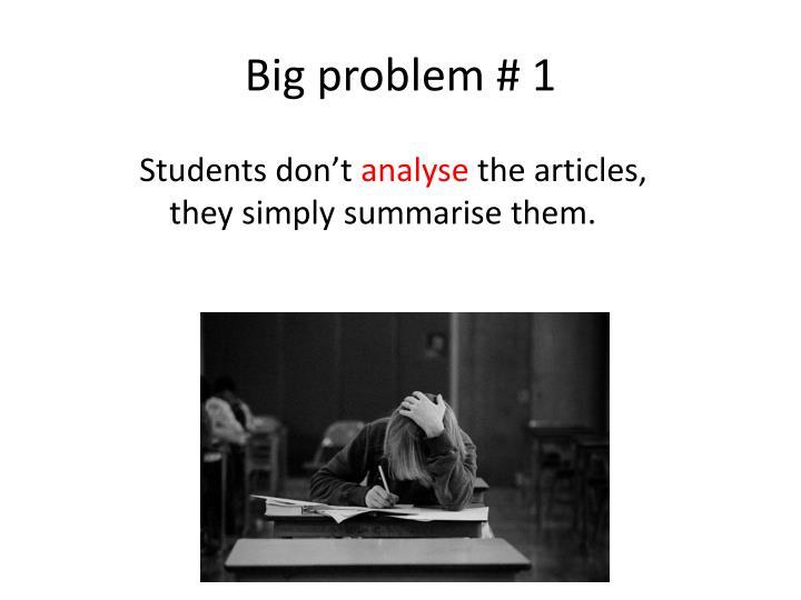 Big problem # 1