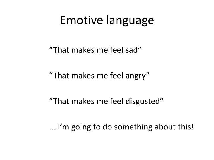 Emotive language