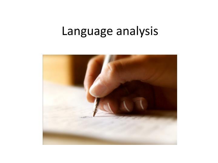 Language analysis