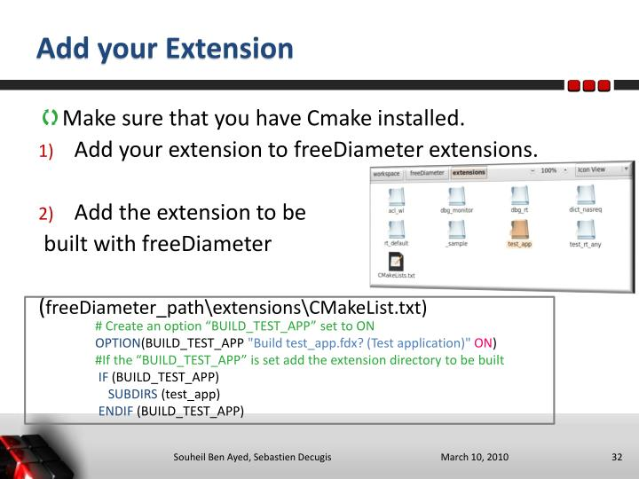 Add your Extension