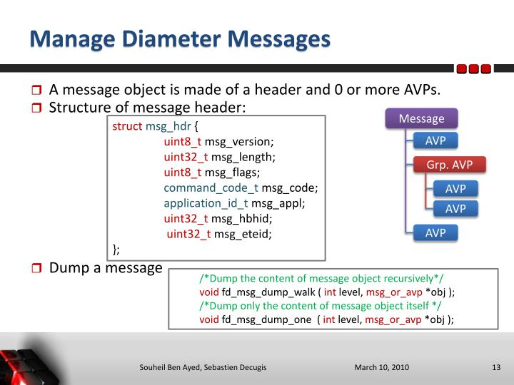 Manage Diameter Messages