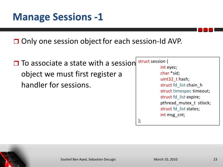 Manage Sessions -1