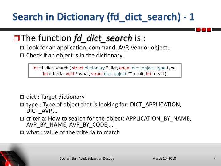 Search in Dictionary (