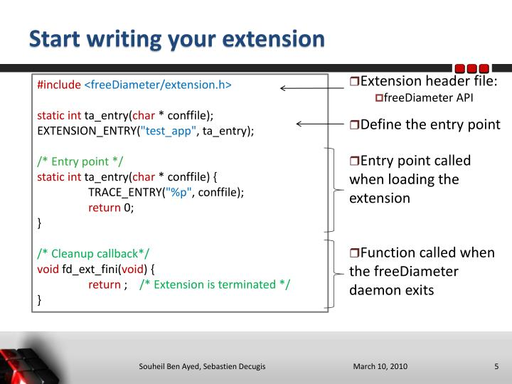 Start writing your extension