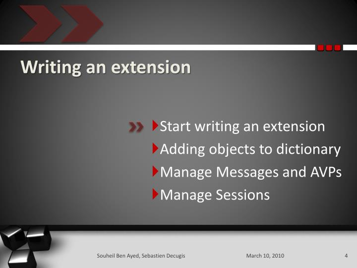 Writing an extension