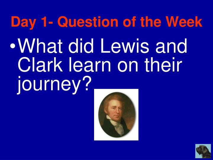 Day 1- Question of the Week