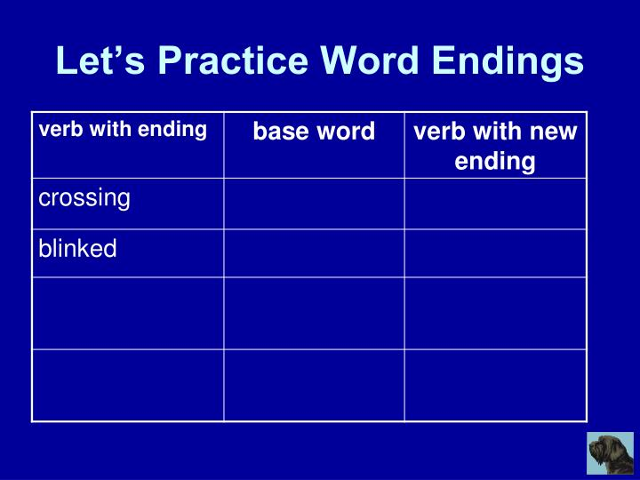 Let's Practice Word Endings