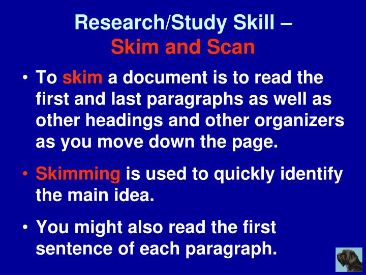 Research/Study Skill –