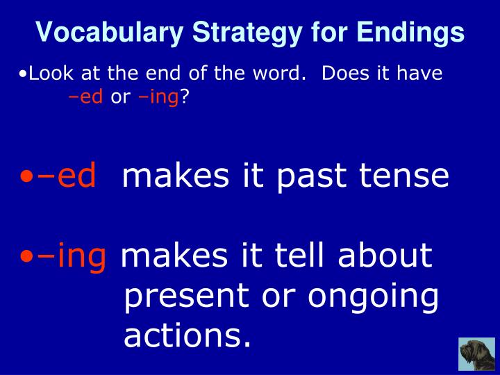 Vocabulary Strategy for Endings