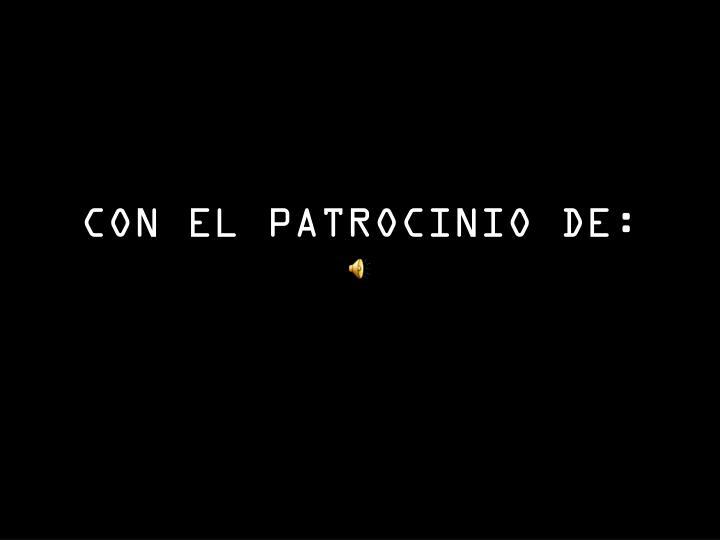 CON EL PATROCINIO DE: