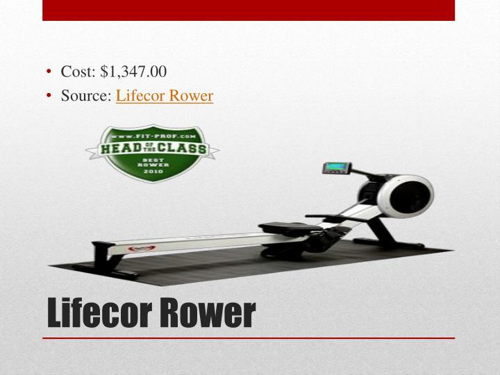 Cost: $1,347.00