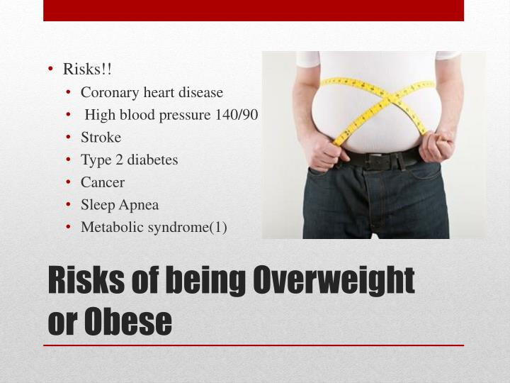 Risks of being overweight or obese