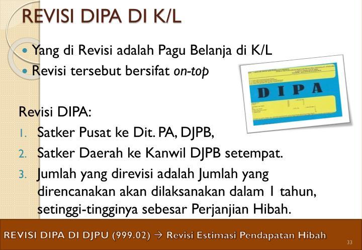 REVISI DIPA DI K/L