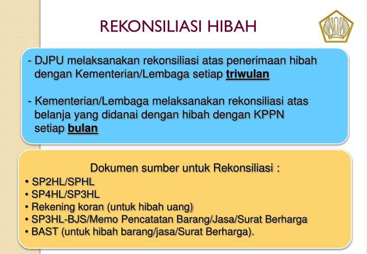 REKONSILIASI HIBAH