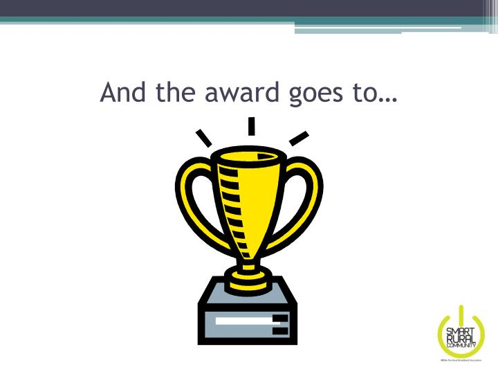 And the award goes to…
