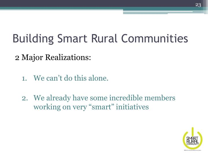 Building Smart Rural Communities