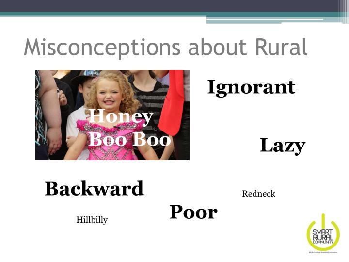 Misconceptions about Rural