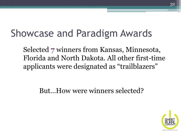 Showcase and Paradigm Awards