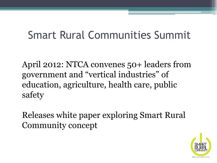 Smart Rural Communities Summit