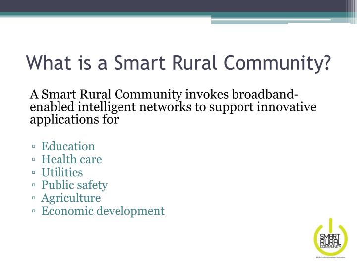 What is a Smart Rural Community?