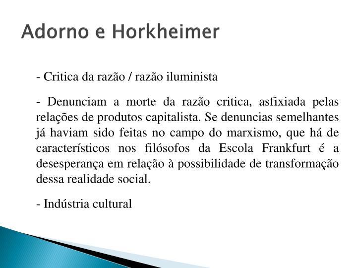 Adorno e Horkheimer
