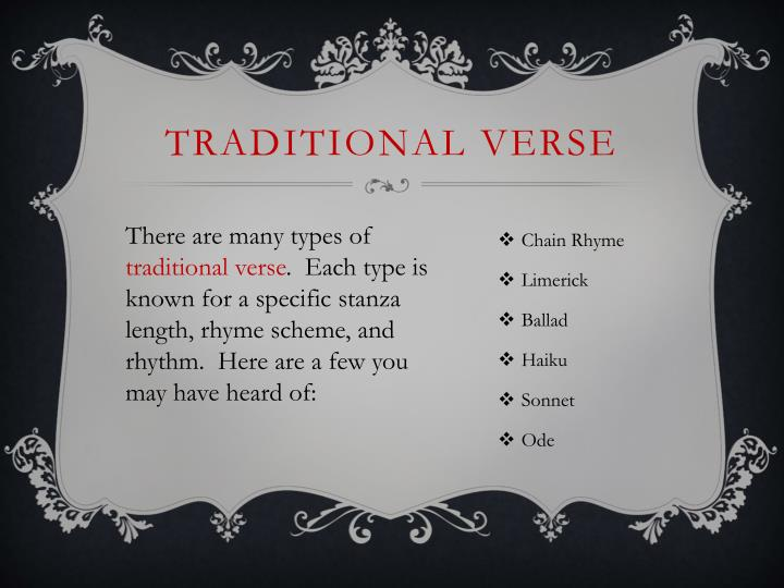 Traditional Verse