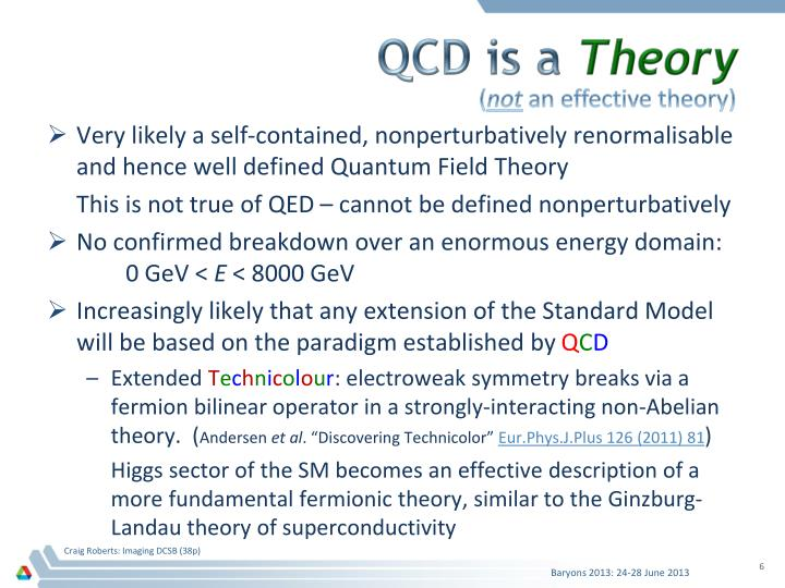 QCD is a
