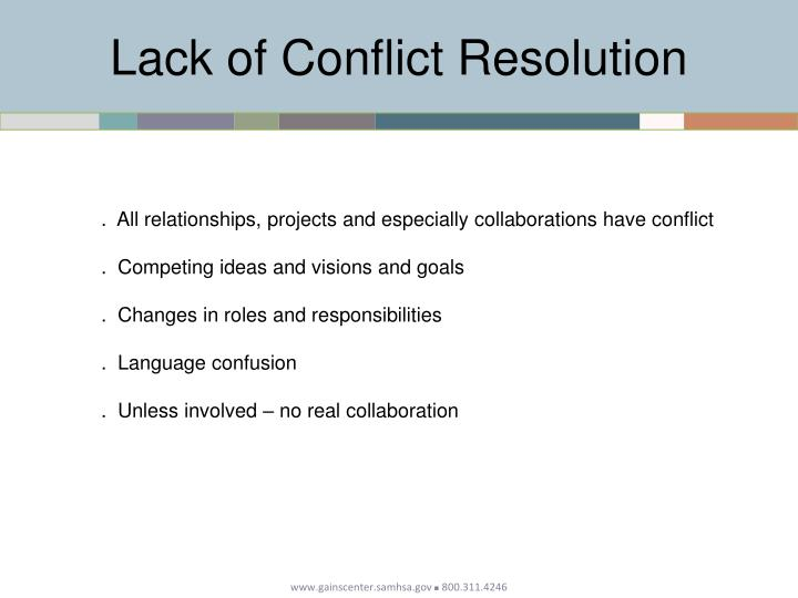 Lack of Conflict Resolution