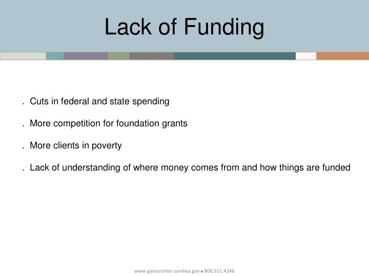 Lack of Funding