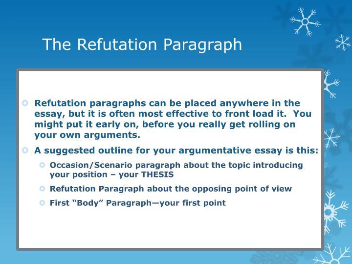 Argument essay refute examples