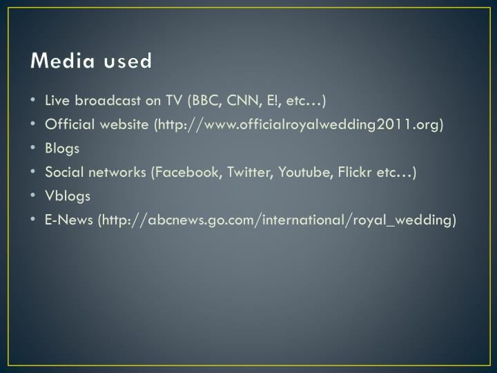 Media used